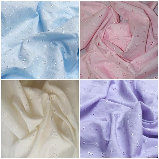 Broderie Anglaise Fabric
