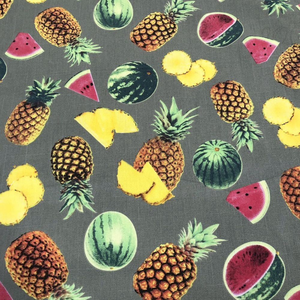 May Arts Pineapple Print 38mm Cotton Tape