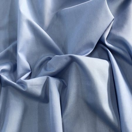f0572827cd9 NEW BLUE Poly Cotton Fabric Material Plain 115cm