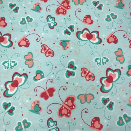 Puppies and Butterflies Flannelette Fabric 108cm Wide per metre