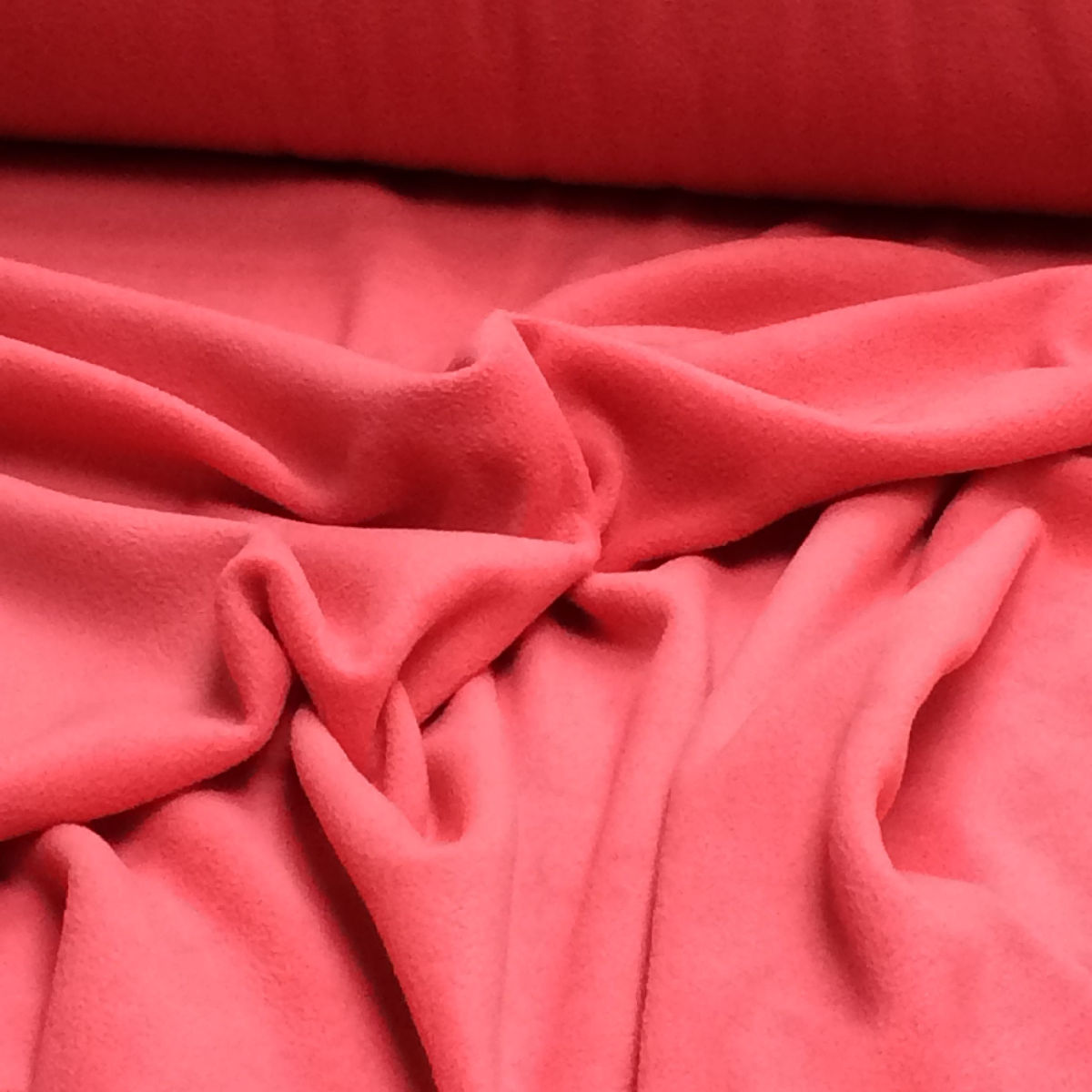 Tartan Cerise Fleece coloured soft fabric material antipill 150cm wide
