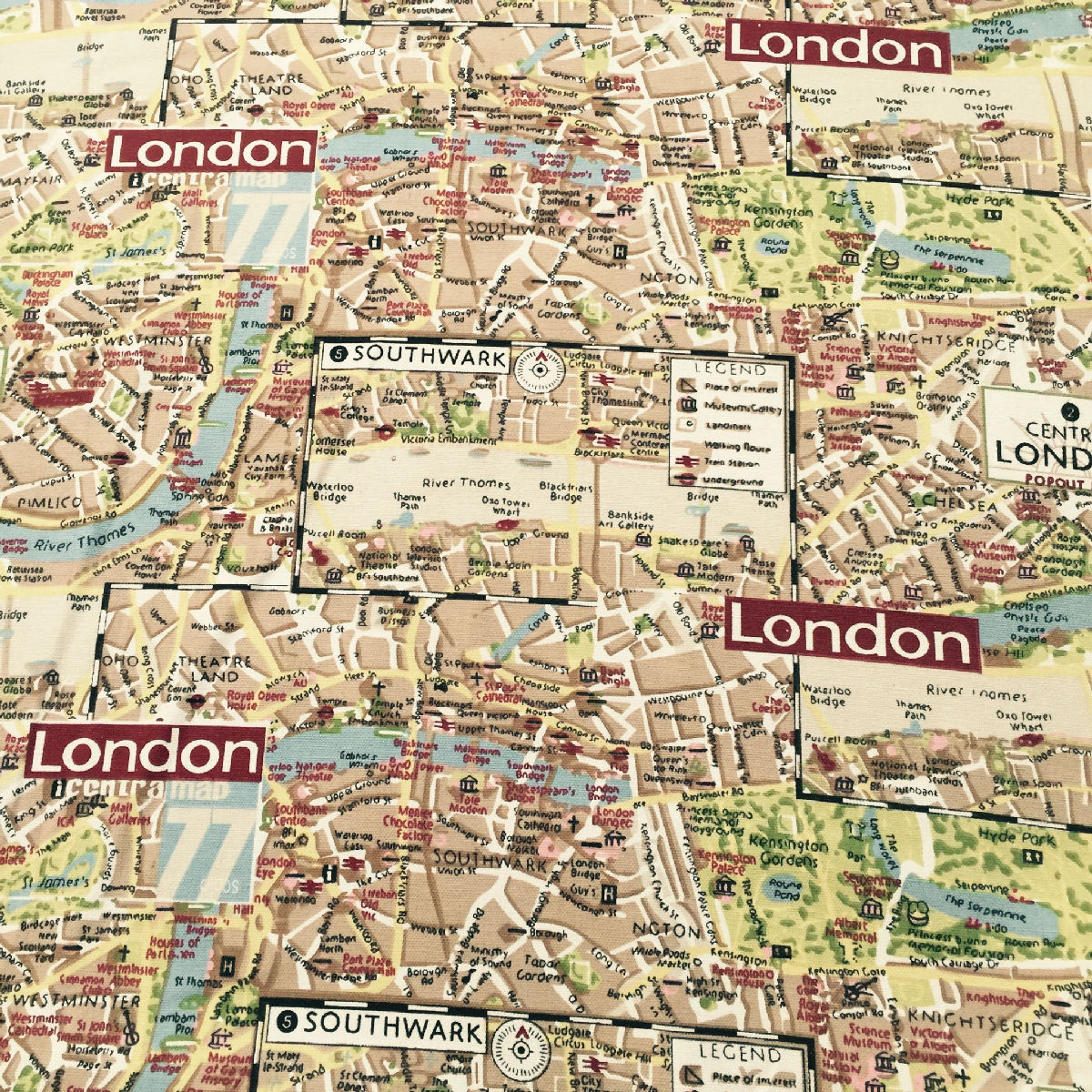 Flags maps london map canvas fabric material medium weight 100 cotton 150cm gumiabroncs Images