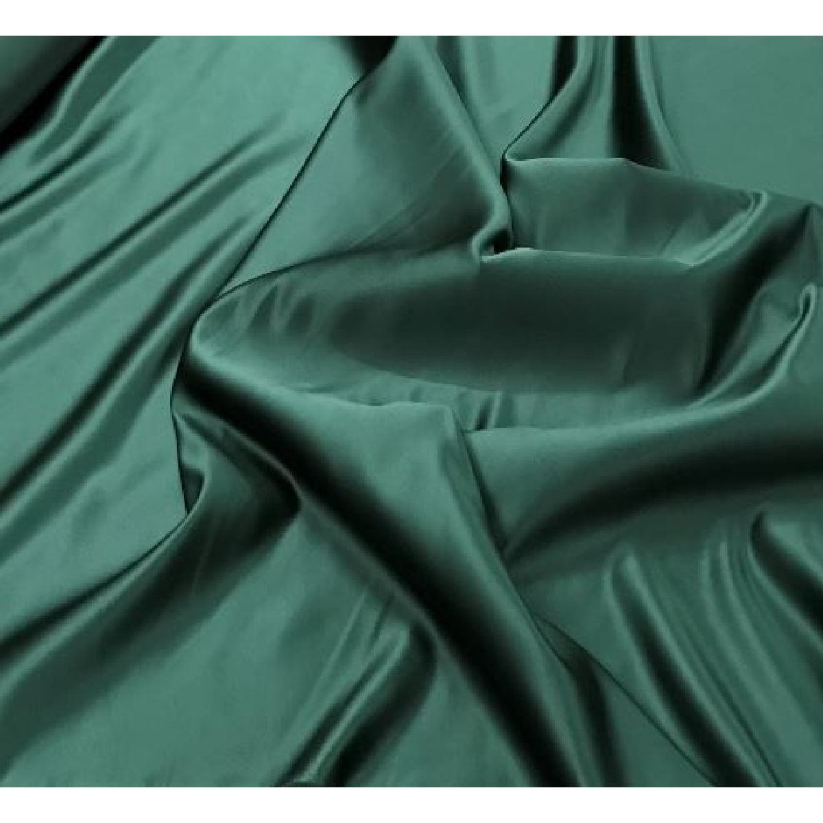 Bottle Green Luxury Silky Satin Dress Craft Fabric Wedding Material 150cm Wide