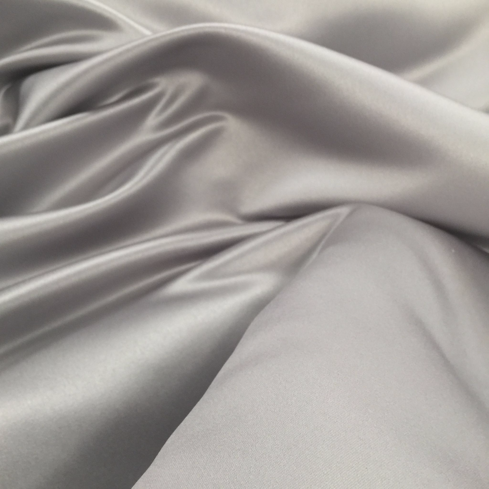 LUXURY Silver Duchess Satin Silky Polyester Fabric Material 150cm
