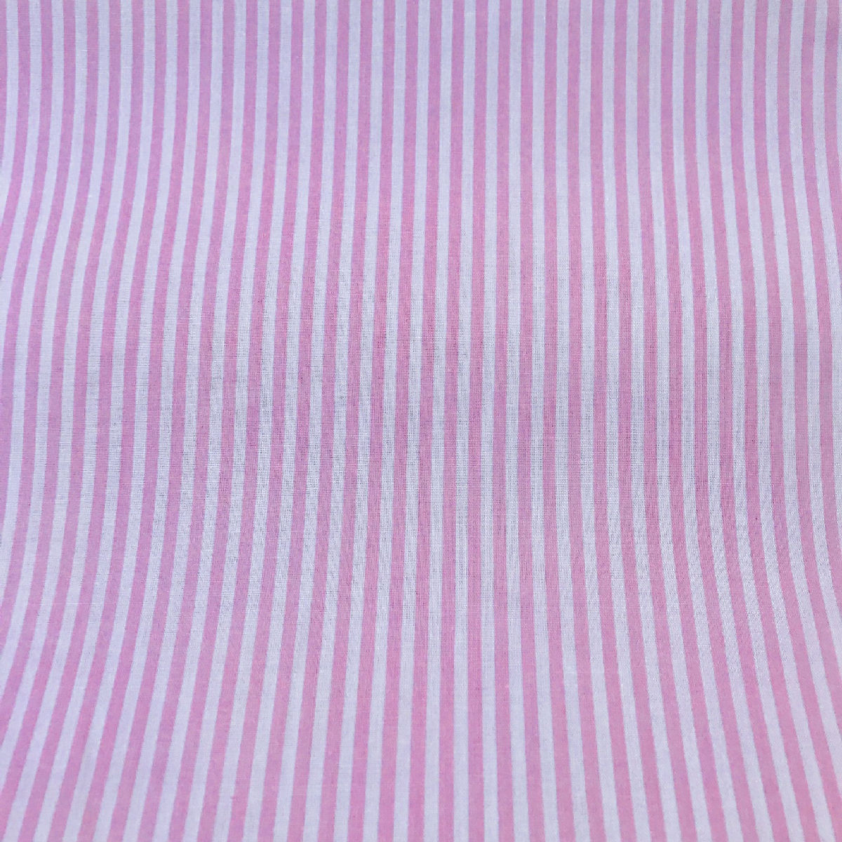 Printed Polyester Cotton Stripes Pink