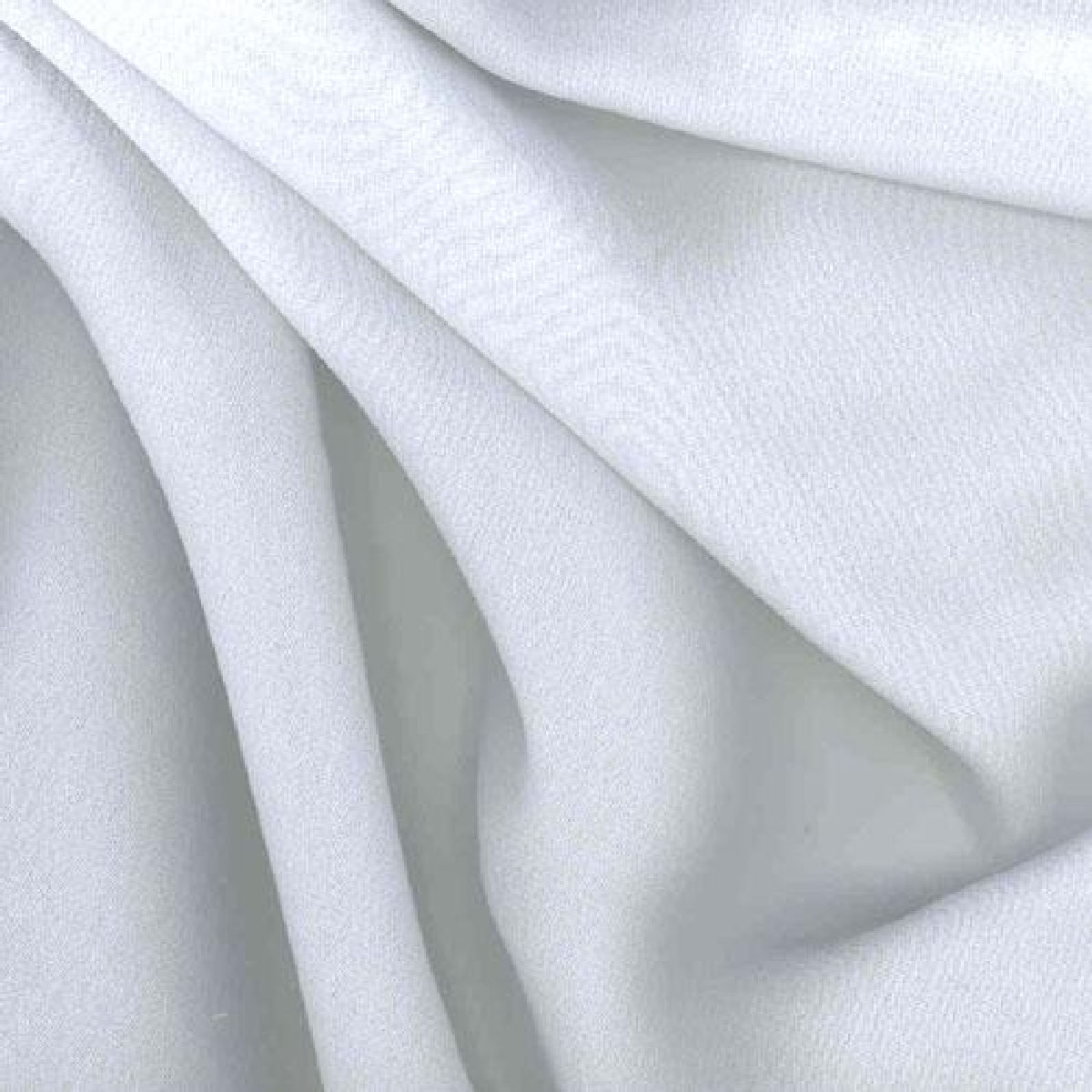 White Premium Chiffon Fabric Polyester Dress 150cm