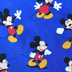 Minnie and Mickey Mouse Fabric