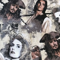Pirates of the Caribbean Fabric