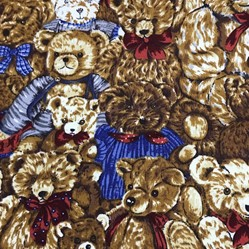 Teddy Bear Print Fabric
