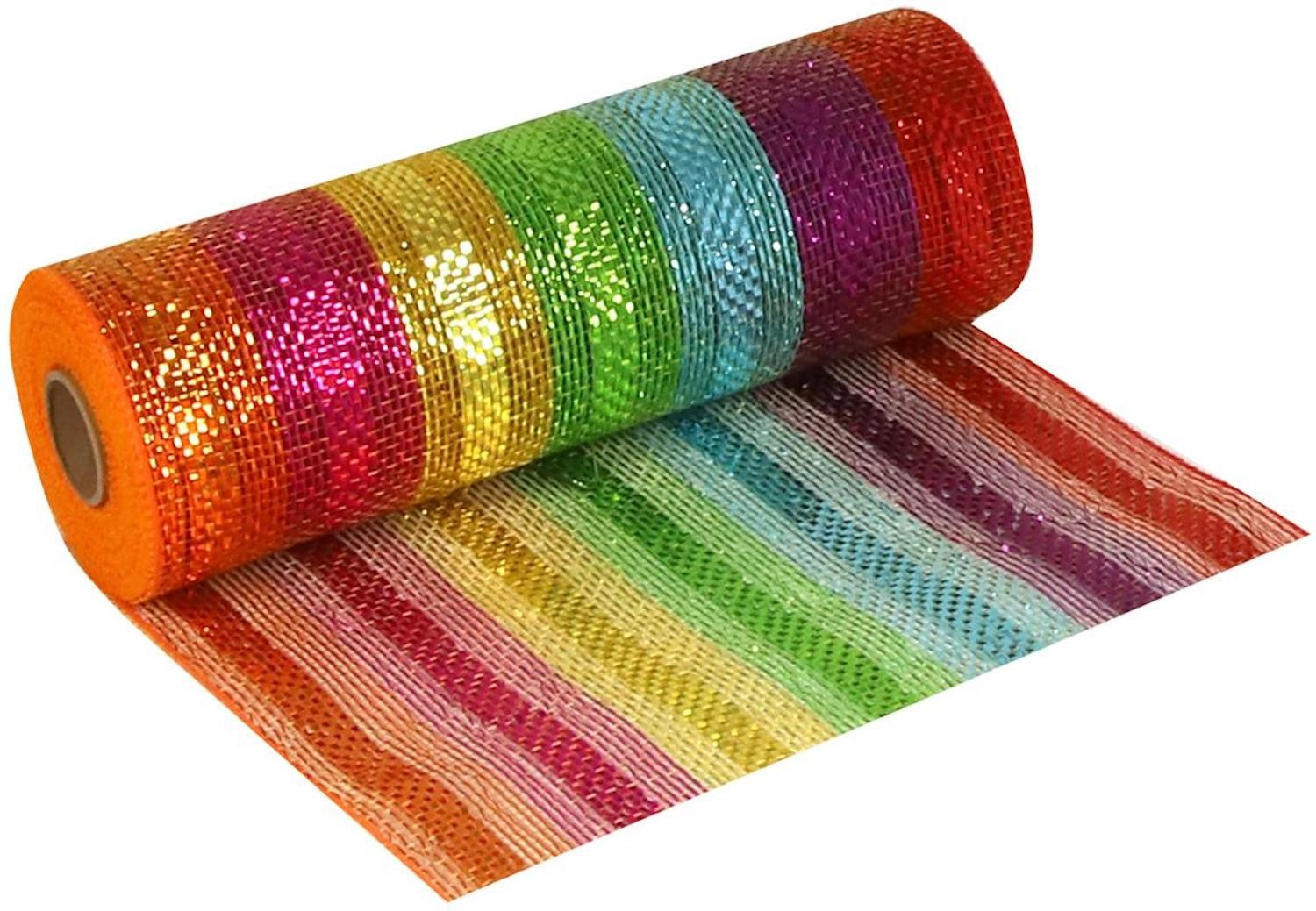 25cm Deco Mesh Multi Coloured